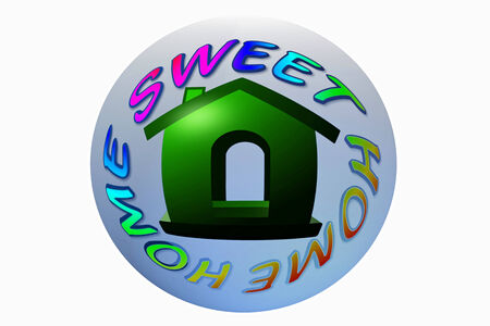 condo: home sweet home icon design Stock Photo