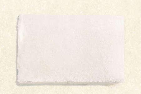 snow texture: snow block in snow texture background Stock Photo