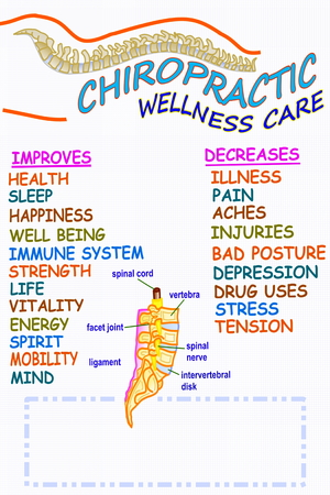 spinal adjustment: chiropractic wellness care therapy related words Stock Photo