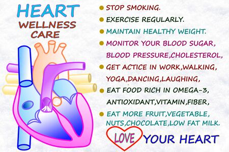 heart wellness care related word icon Stock Photo