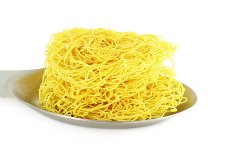 sev: sev  noodles or vermicelli indian food snack in pure white background Stock Photo