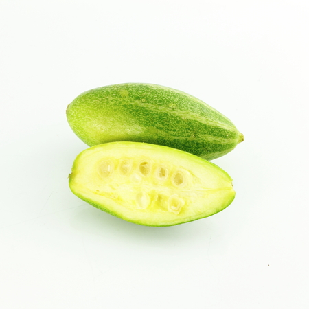 pointed: pointed gourd parval in white background
