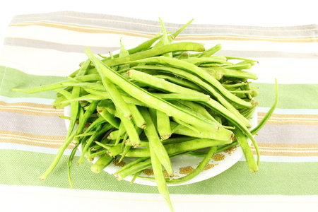 cluster: cluster bean or guar sing indian vegetable Stock Photo