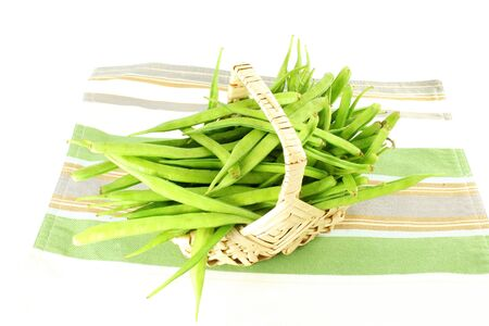indian bean: cluster bean or guar sing indian vegetable Stock Photo