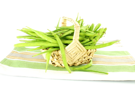 guar: cluster bean or guar sing indian vegetable Stock Photo