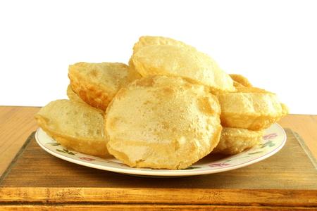 puri indian food fried wheat flour roti chapati or flat bread