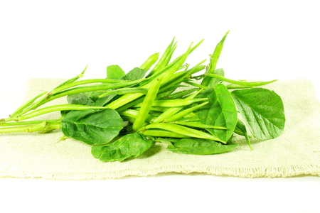 guar: cluster bean or guar been indian vegetable in white background