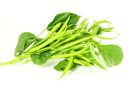 indian bean: cluster bean or guar been indian vegetable in white background