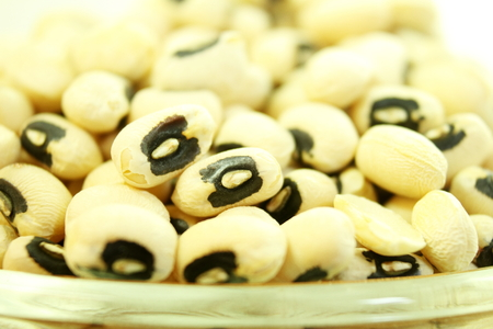 cow pea: Black eye peas beans closeup Stock Photo