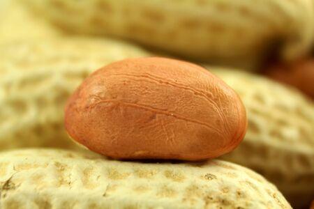 peeled: peanuts whole and peeled closeup