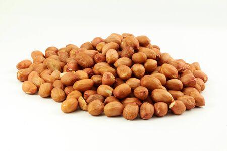 peeled: peanuts peeled in white background