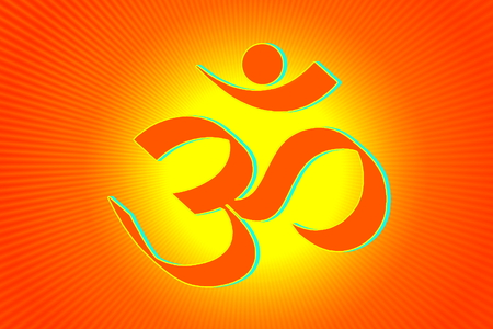 yoga to cure health: om religious symbols and meditating peace healing related background