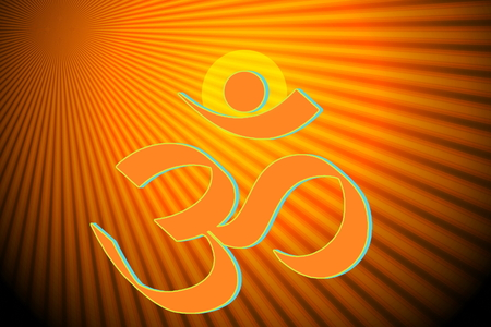 mantra: om religious symbols and meditating peace healing related background