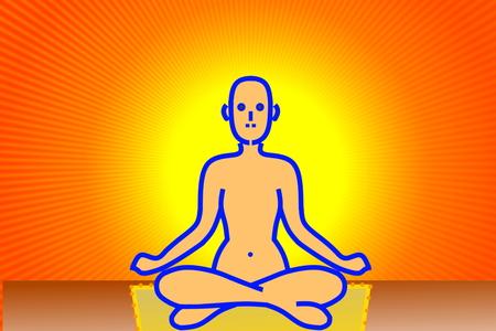 samadhi: yoga health meditation relaxation fitness peace wellness Stock Photo