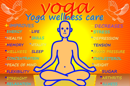 yoga health meditation relaxation fitness peace wellness Stock Photo