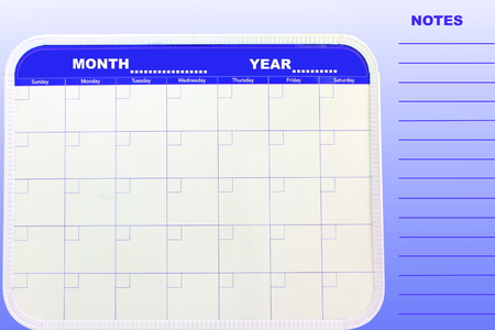 note or planer for organizing monthly activities Stock Photo - 53855349