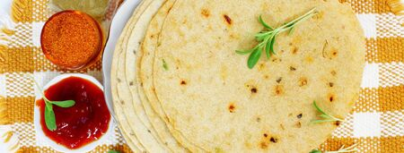 indian food and indian cuisine related background with text space
