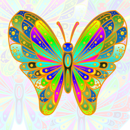 Colorful butterfly as background Stockfoto