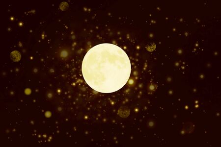 de focused circle background with moon Stock Photo