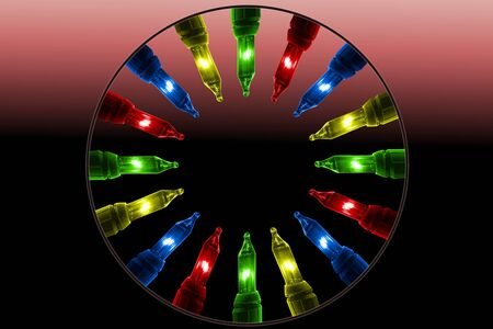 colorful flashing lights
