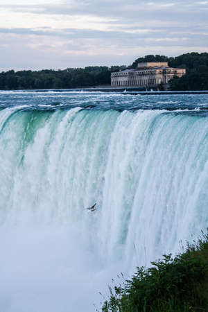 View of the horseshoe fall from Canada Stock Photo