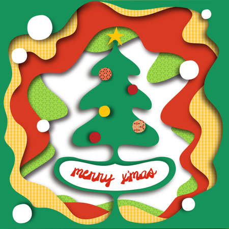 Christmas tree in a hole! ---usable for many tasks. You can also hide the TEXT if you want! Vector