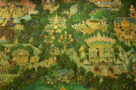 Thai Mural Painting of the Buddha