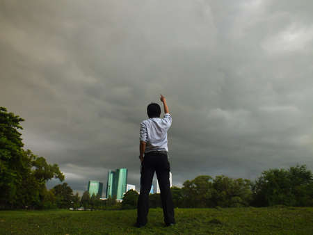 overcome a challenge: Challenge the sky