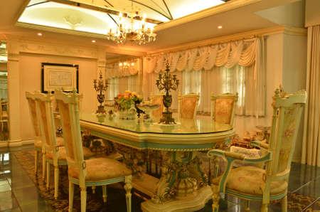 dinning: Grand Dinning Room--curtain side 1