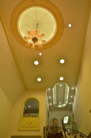 Grand stairway (chandelier) photo
