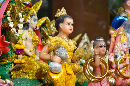 thai believe: Ghost toy 2.In Thailand, people use to worship the low-rank angel (such as home angel or tree angel) or some child-ghosts with toys, mostly old-fashion dolls.