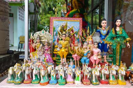 thai believe: In Thailand, people use to worship the low-rank angel (such as home angel or tree angel) or some child-ghosts with toys, mostly old-fashion dolls. Editorial
