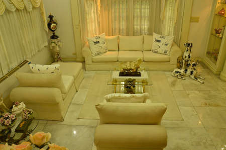 Grand Living Room--relax zone (top view) Stock Photo - 11978083