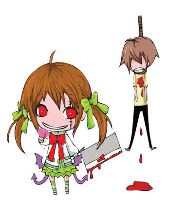 Happy Bloody valentine!! This is one evil way to attain a heart from the one you love...in a valentine day >_ Vector