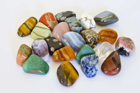 set in stone: Colorful Stones Stock Photo