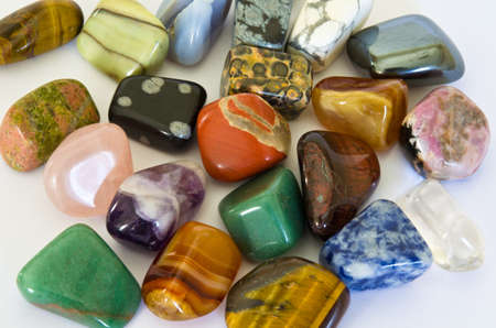 valuable: Colorful Stones Stock Photo