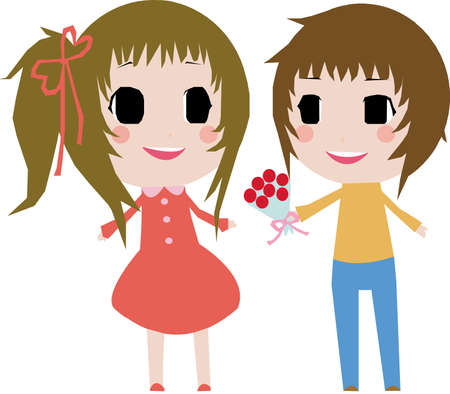 love confession: Cute Couple 2D