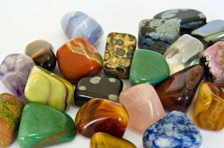 precious stone: Colorful Stones Stock Photo
