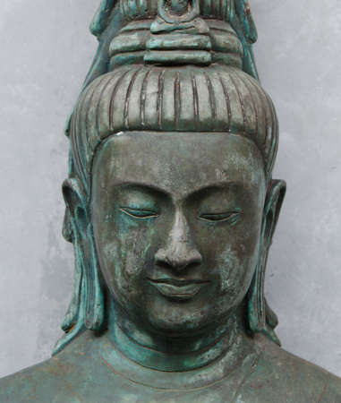 This Facial of the Buddha statue is taken in