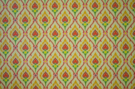 thaiart: Pattern of a Thai-art carpet. Can be use as wallpaper or background.