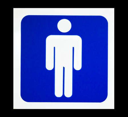 Blue toilet sign for men photo