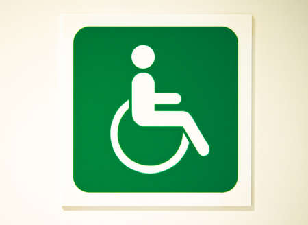 Green Toilet Sign For Handicapped Or Person With Wheelchair Stock Photo Picture And Royalty Free Image 12162997