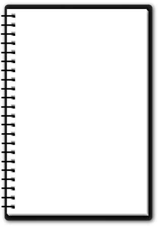 Bruikbare notepad (een pagina) Vector Illustratie