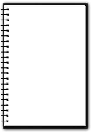 hardcover: Usable notepad (single page)