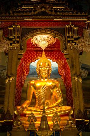 Golden Buddha in an ancient temple in Bangkok, Thailand 2 Stock Photo - 12449693
