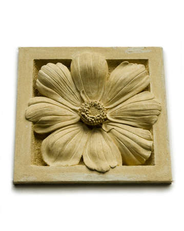 A stone inscription of a flower Stock Photo - 12449705