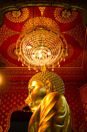 Side of the Grand-Golden Buddha  in an ancient temple in Bangkok, Thailand Stock Photo - 12689864