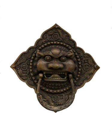 knocker: Traditional Korean Door Knocker with a unique design Stock Photo