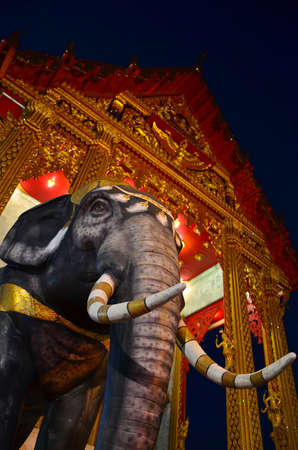thai believe: Elephant always take an important role in the Buddhas time and its the symbol of Thailand---this picture is taken in Wat semeannari, Bangkok