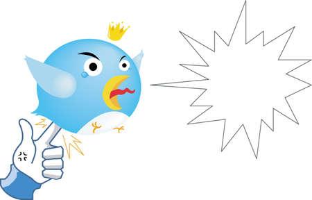 Social network parody - Like Revenge   by stabbing Bird Stock Vector - 12996114